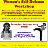 In Workshops: Self Defense